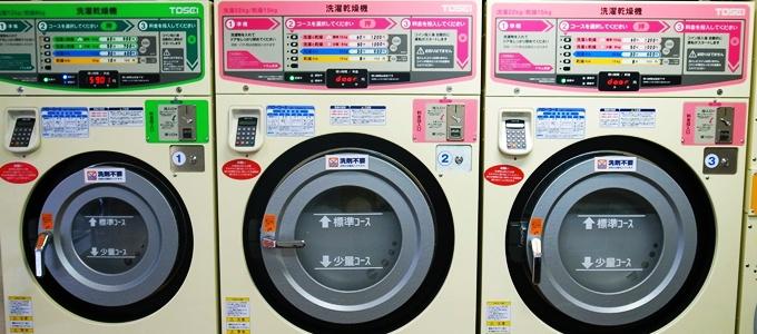 コインランドリーの洗濯乾燥機