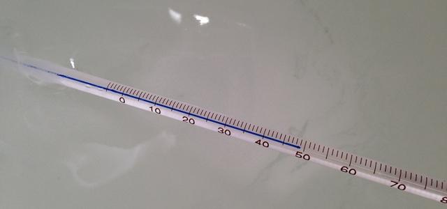 洗濯水の温度を測る