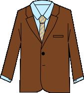 スーツのコーディネート ブラウン1