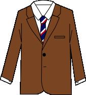 スーツのコーディネート ブラウン4