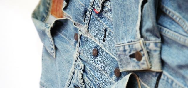 古着デニムジャケット(Gジャン)の襟、袖汚れを落とす洗濯方法