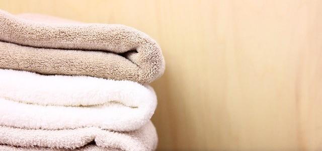 洗濯した後のバスタオル