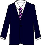 スーツのコーディネート ネイビー2