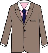 スーツのコーディネート ブラウン5