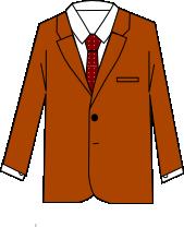 スーツのコーディネート ブラウン2