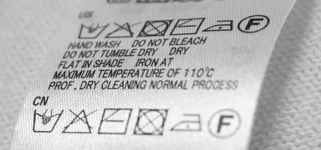 外国語表記の洗濯表示