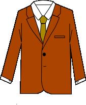 スーツのコーディネート ブラウン3