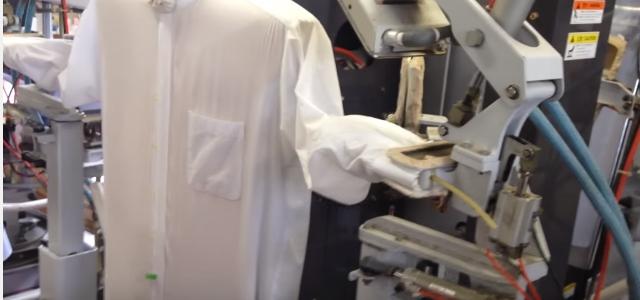 ワイシャツのプレス機