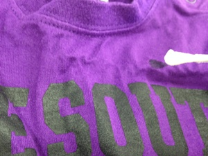 Tシャツに塩素をつける