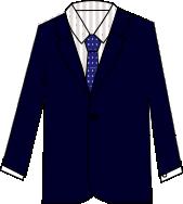 スーツのコーディネート ネイビー7