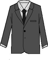 スーツのコーディネート グレイ2