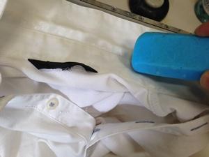 固形石鹸で前処理1