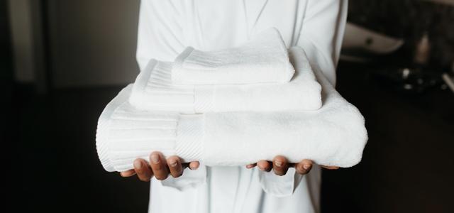柔軟剤を使ったタオル